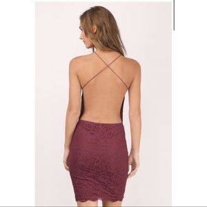 Lace Open Back Cocktail Dress